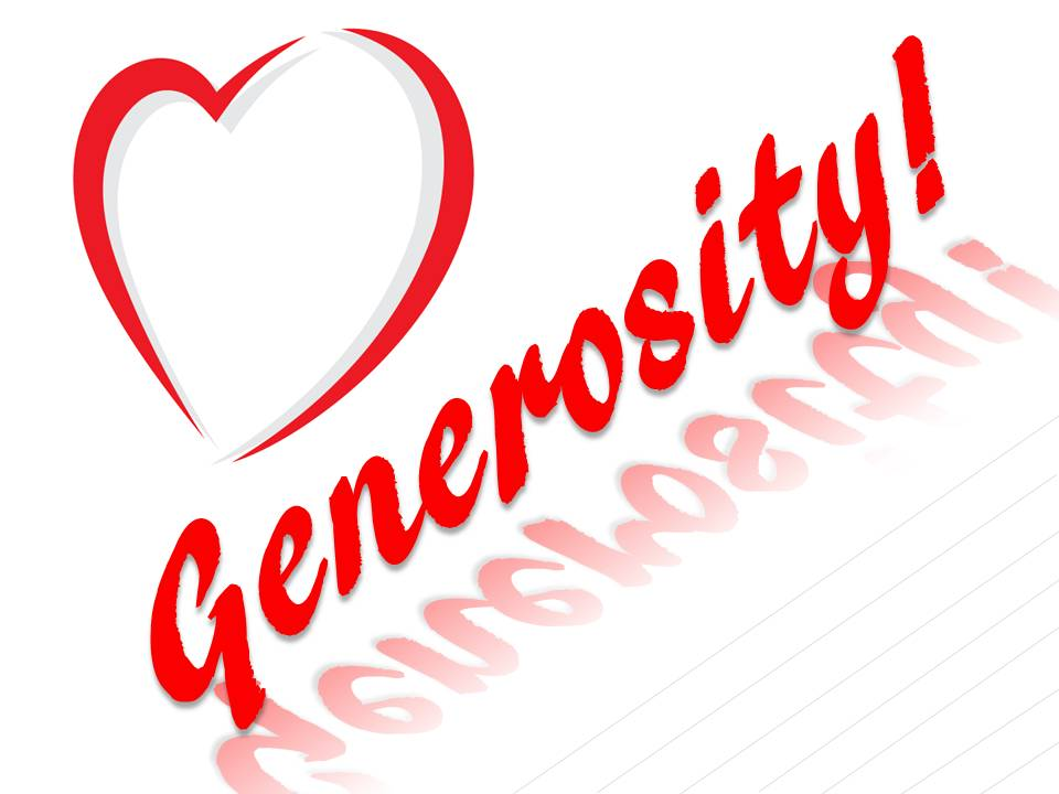 Generosity - A thing of the heart